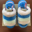 Light Blue Size US6=Eur37 Copy Women Furry Slippers Australia Fluff Yeah Slides Fur Slides Slippers