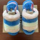 Light Blue Size US8=Eur39 Copy Women Furry Slippers Australia Fluff Yeah Slides Fur Slides Slippers