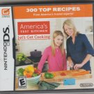 America's Test Kitchen Let's Get Cooking (Nintendo DS 2010) New.
