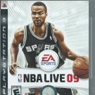 NBA Live 09 (Sony PlayStation 3, 2008) Complete.