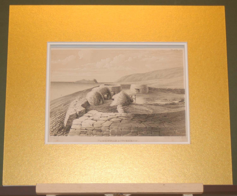 Set of 3 Antique Prints 1858 Dingle, Ventry, Kerry, Ireland