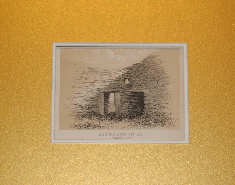 Set of 2 Antique Prints 1858 Cloghaun�s Kerry, Ireland