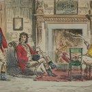 1858 Antique Print Appleton Hall John Leech