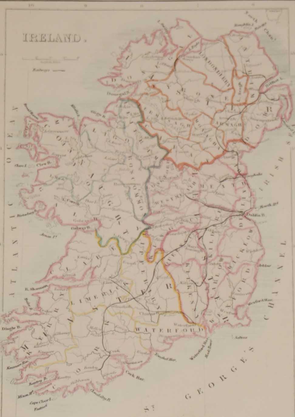 Antique Map Ireland 1871