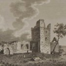 1797 Antique Print Selkser Abbey Wexford