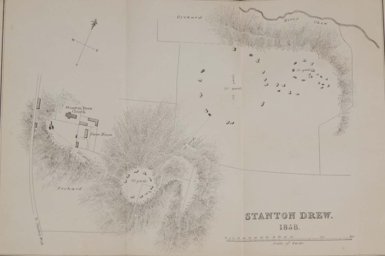 Stanton Drew Stone Circles Antique Map 1858