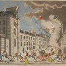 Explosion D'une Machine Infernale Mourlot Print 1944