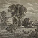 Paddington Green London in 1750, Antique Victorian Print from 1878
