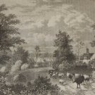 Notting Hill London in 1750, Antique Victorian Print from 1878