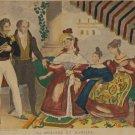 La Demande En Mariage Vintage Print Mourlot 1944