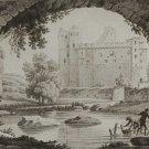 1817 Aquatint Pris Sous Le Pont St Antoine