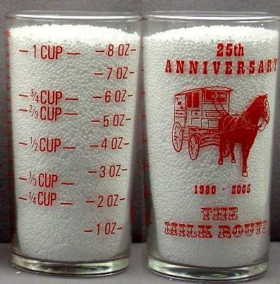 MILK BOTTLE MILK ROUTE CONVENTION GLASS 25th YEAR mr6 MINT Read FAQ at