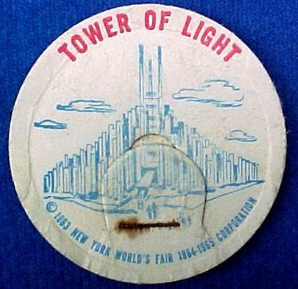 TOWER OF LIGHT NEW YORK WORLD�S FAIR MILK BOTTLE CAPS sp13-read FAQ more