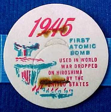FIRST ATOMIC BOMB 1945 HISTORICAL MILK BOTTLE CAPS sp17c-Quantities Available read on