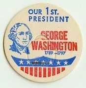 GEROGE WASHINGTON, 1st PRESIDENT MILK BOTTLE CAPS � Historical - p1L read more . . . .