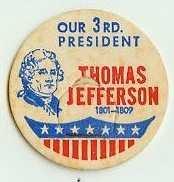 THOMAS JERRERSON, 3rd PRESIDENT MILK BOTTLE CAPS Historical p3L  read more . . . .