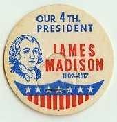 JAMES MADISON, 4th PRESIDENT MILK BOTTLE CAPS Historical p4-read more . . . .