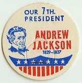 ANDREW JACKSON, 7th PRESIDENT MILK BOTTLE CAPS Historical p7L read more . . . .