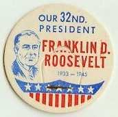 FRANKLIN D. ROOSEVELT 32nd PRESIDENT MILK BOTTLE CAPS, Historical,  p32L read more . . . .