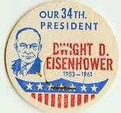 DWIGHT D. EISENHOWER 34th PRESIDENT MILK BOTTLE CAPS �historical p34L read more . . . .