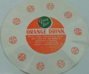 GREEN SPOT, ORANGE DRINK, MILK BOTTLE CAP, Mc2-Quantities available read on