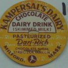 KAMPERSALS DAIRY, MASS, CHOCOLATE, SKIMMED, MILK BOTTLE CAP, Mc10-Quantities avail