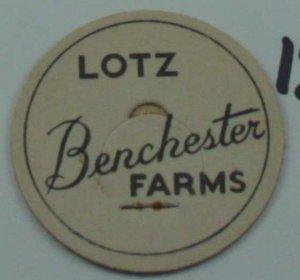 LOTZ BENCHESTER FARMS, MILK BOTTLE CAP, Mc12-Quantities available read on