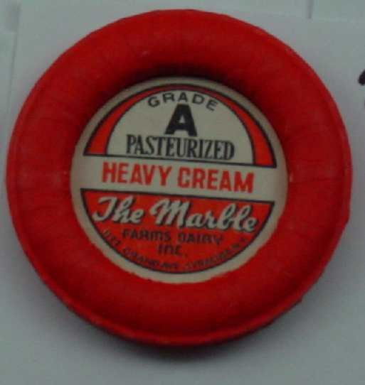 THE MARBLE FARMS, NY, A PASTEURIZED HEAVY CREAM, MILK BOTTLE CAP, Mc24-Quantities FREE SHIPPING