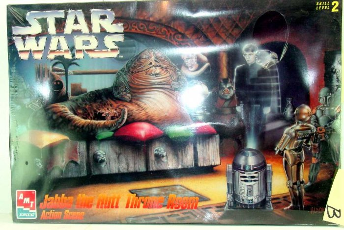 STAR WARS JABBA THE HUTT THRONE ROOM ACTION SCENES, af-1B, SEALED BOX