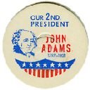 JOHN ADAMS, 2nd PRESIDENT MILK BOTTLE CAPS 51mm Historical p2M read more . . . .