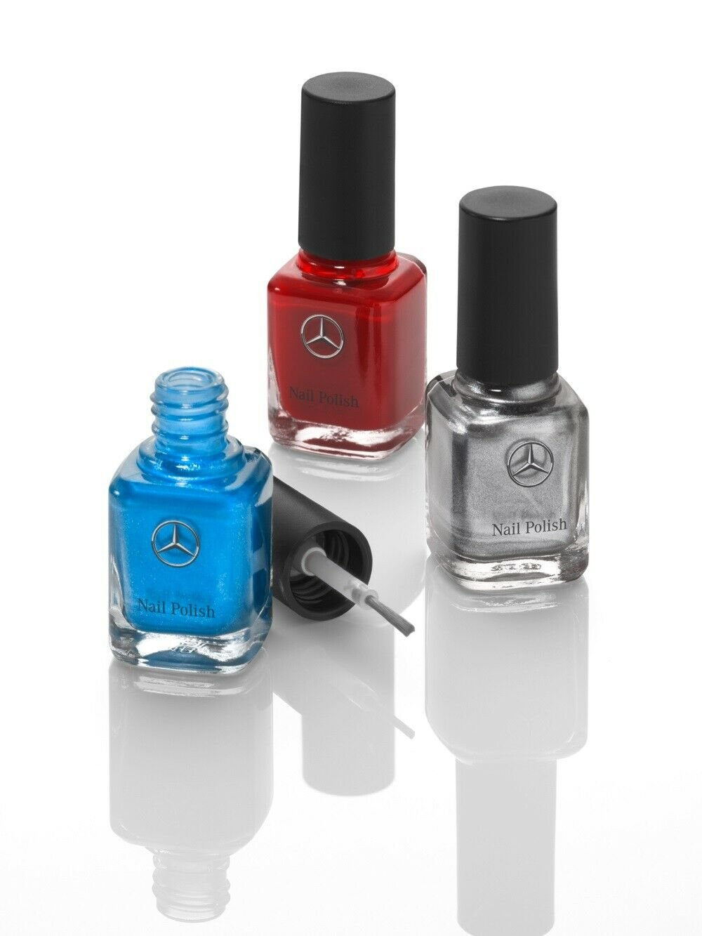 Mercedes Benz Nail Polish Lacquer, set of 3, Genuine