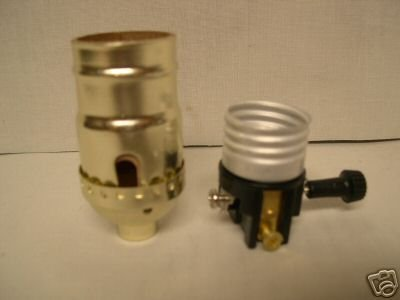 Lamp parts: 3-way sockets for wiring lamps $1.14 each   TR-24