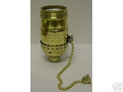 Lamp parts: 3-way pull chain sockets for wiring lamps