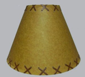 """14"""" rustic lamp shades with lacing"""