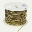 Lamp parts: 250' roll brass beaded ball chain TR-710