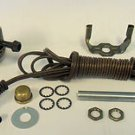 antique brass-plated lamp kits: off/on sockets, 15' brown cord       TD-401XX