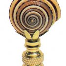 Lamp parts: SUNDIAL SEASHELL LAMP SHADE FINIAL