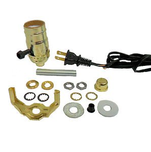 Lot of 10 lamp part kits- blk cord, 3-way socket TD-396