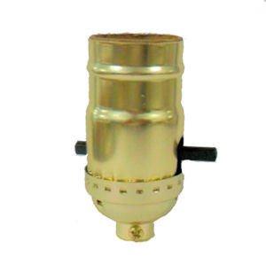 Lamp parts: Lot of 25 brass push-thru socket  TR-19