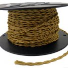 LOT OF 50 FT GOLD TWISTED RAYON WIRE-18 GAUGE 2-WIRE VINTAGE-STYLE FREE SHIPPING