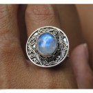 Best Seller Antique Silver Ring Rainbow Moonstone original from Bali Indonesia
