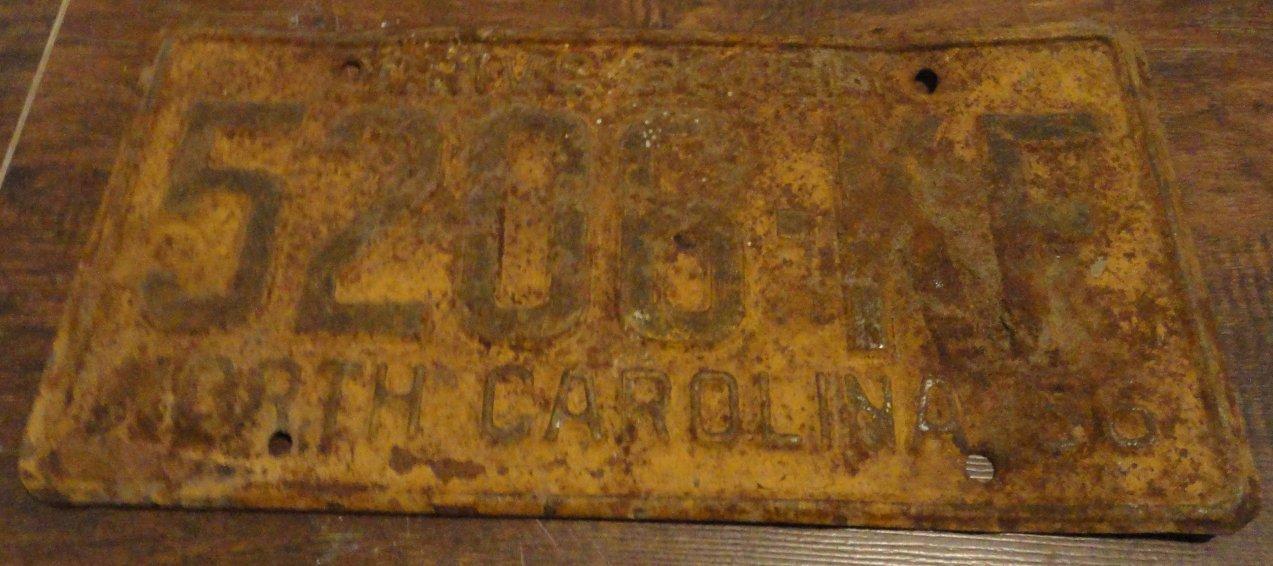 1956 5206 KF North Carolina license plate