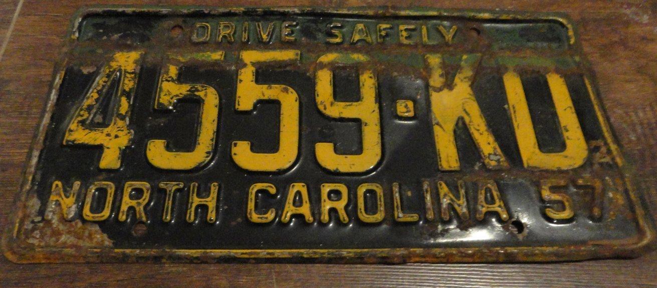 1957 4559 KD North Carolina license plate