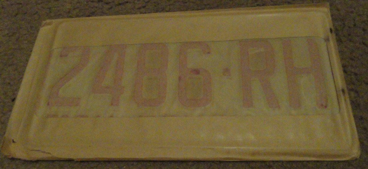 NOS 1970 2486 RH North Carolina farm truck license plate new old stock