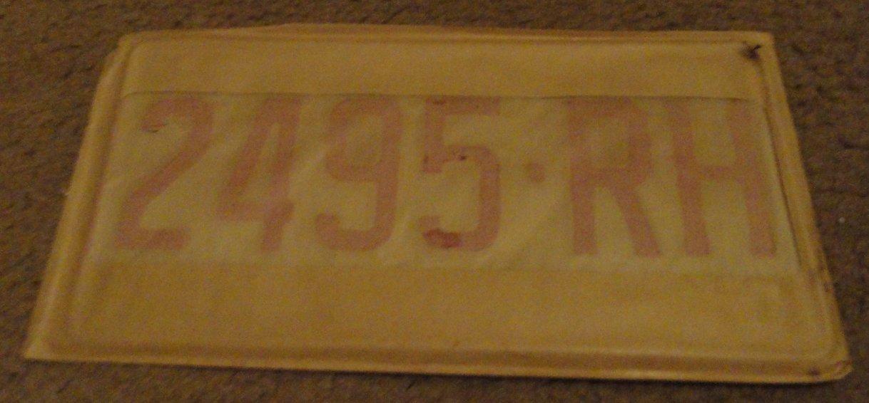 NOS 1970 2495 RH North Carolina farm truck license plate new old stock