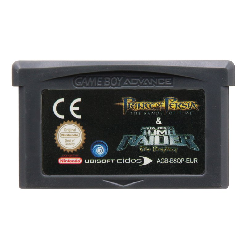 2 Games in 1-Prince of Persia & Tomb Raider Gameboy Advance Cartridge Card EUR Version