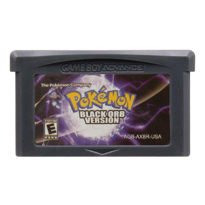 Pokemon Black Orb Version Gameboy Advance GBA Cartridge Card US Version
