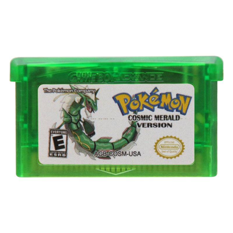 Pokemon Cosmice Merald Version  Gameboy Advance GBA Cartridge Card US Version