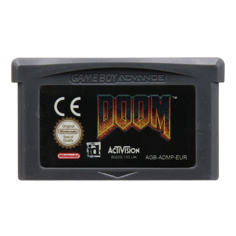 DOOM Gameboy Advance GBA Cartridge Card  EUR Version