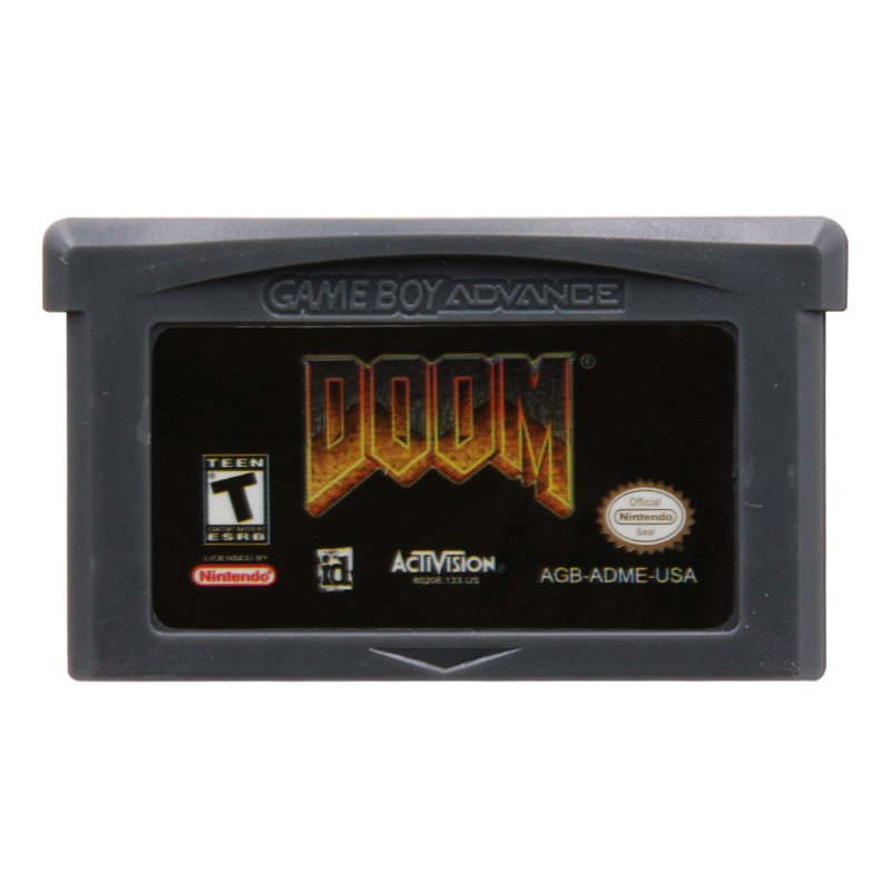 Doom Gameboy Advance GBA Cartridge Card US Version